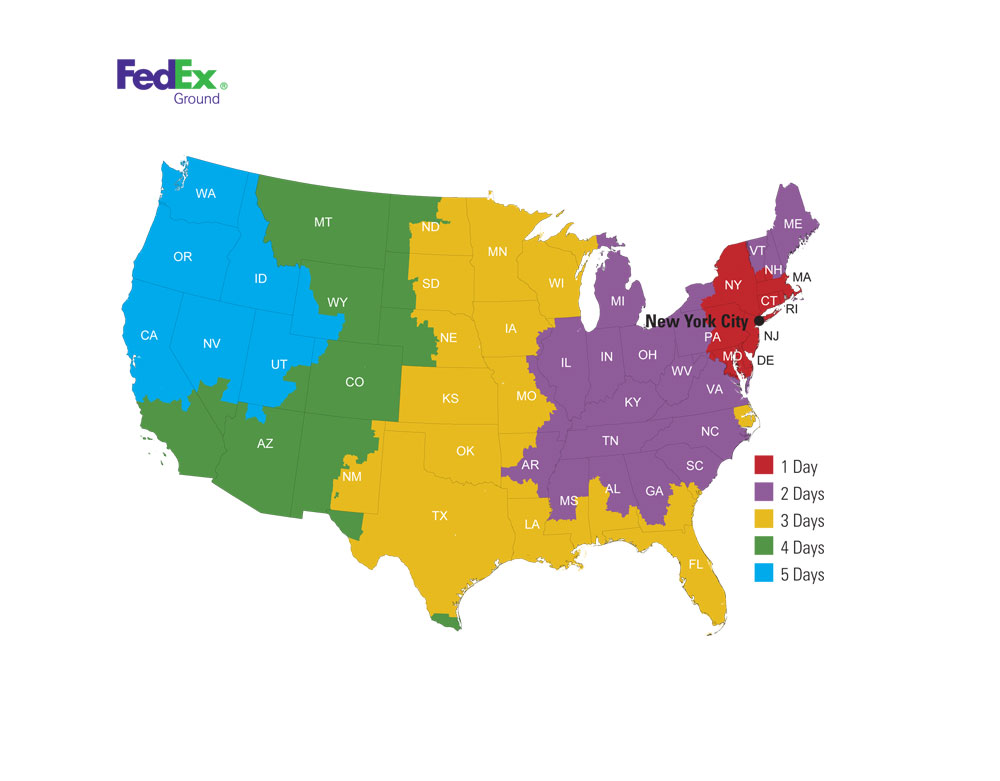 Fed Ex Ground Map